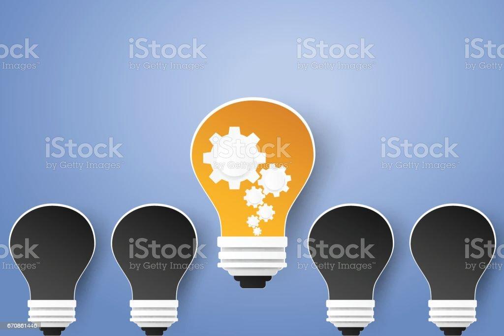Difference idea concept vector art illustration