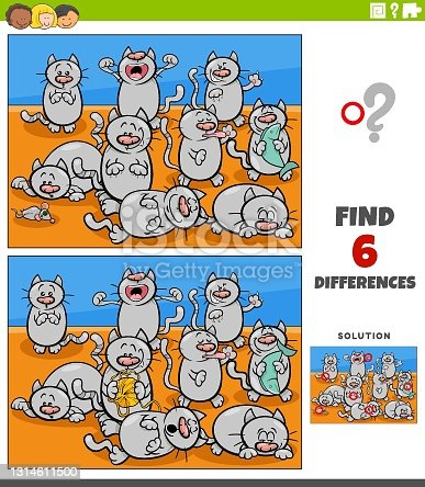 istock differences educational game with cats animal characters 1314611500