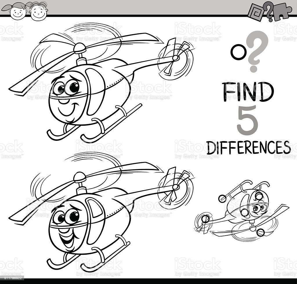 Ilustración de Página Para Colorear Diferencias Juego y más banco de ...