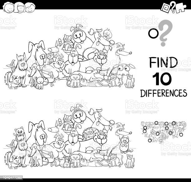 Differences game with cats and dogs color book vector id1040477260?b=1&k=6&m=1040477260&s=612x612&h=euxyrj93klpc 4dpcwvh5g7afak ixvfuky dtj bb0=