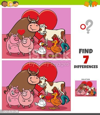 istock differences game with farm animals in love 1201529139