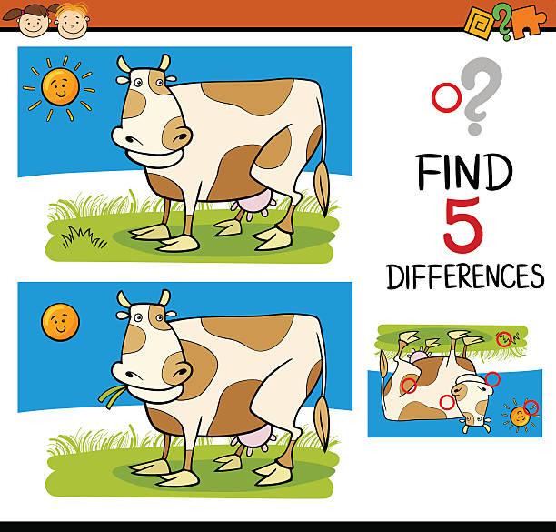 differences task for children vector art illustration