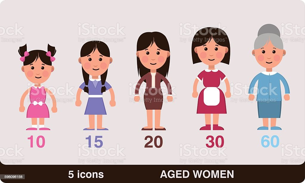 different ages of women royalty-free different ages of women stock vector art & more images of activity