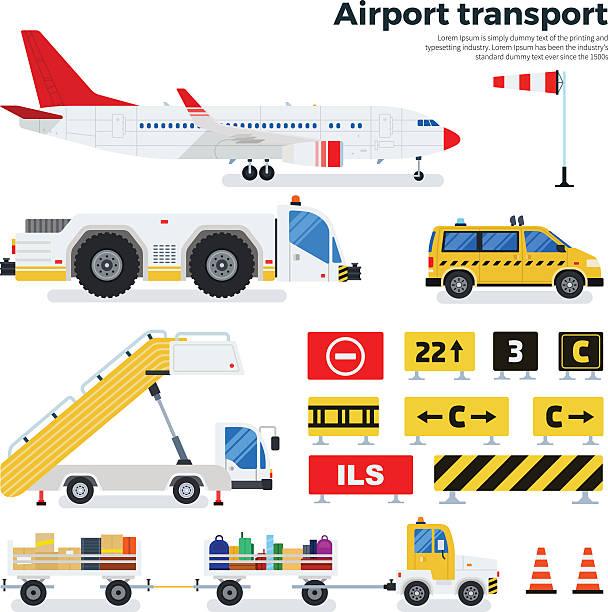 airport transportation stock illustrations