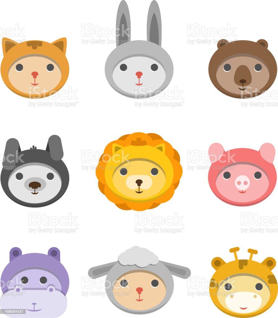 さまざまな動物の顔 のイラスト素材 458034431 | istock
