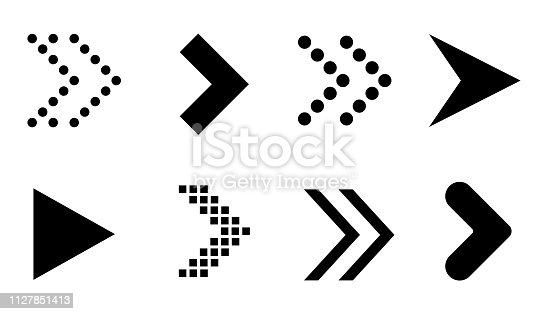 Different arrow collection. Vector illustration