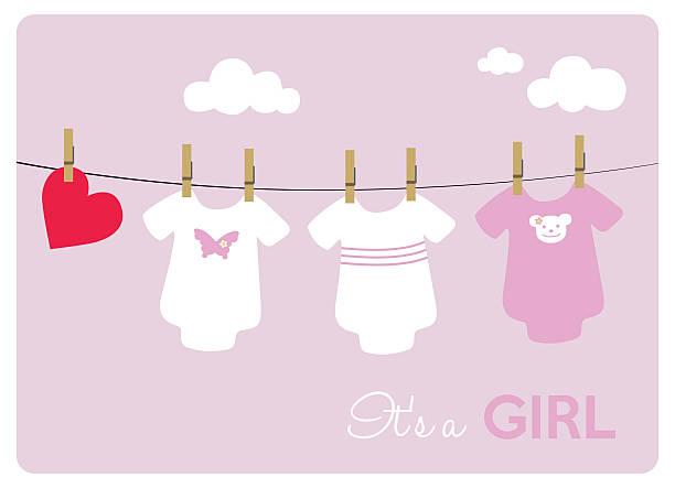 neue babystrampler auf rosa hintergrund - catsuit stock-grafiken, -clipart, -cartoons und -symbole