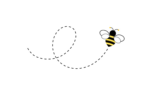 Different bee and honeycomb vector and icon