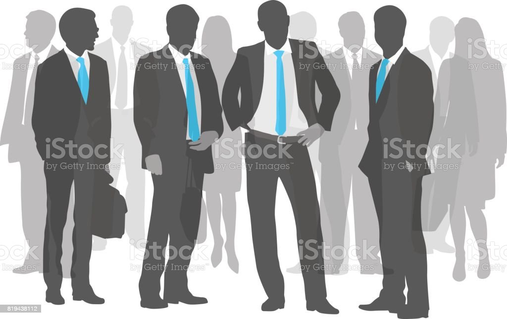 Different Business Teams vector art illustration