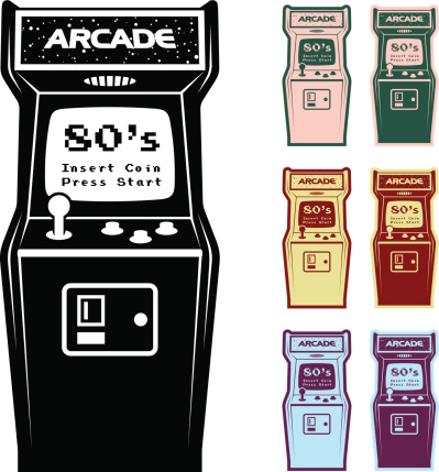 Different Color Options Of Video Arcade Machine