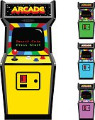 Different Color Options Of Video Game Arcade Cabinet