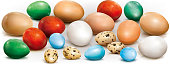 Different colorful eggs