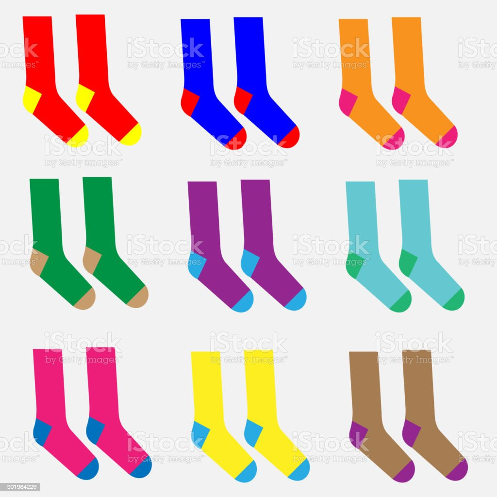 Different colorful socks