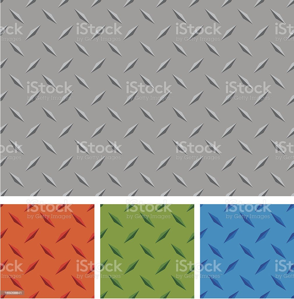 Different colors of diamond metal boards royalty-free stock vector art