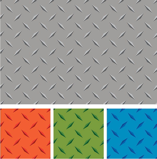 Different colors of diamond metal boards vector art illustration