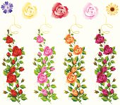 Self illustrated Different Colour Rose Vine Set.Please see some similar pictures from my portfolio: