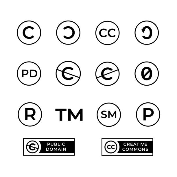 Royalty Free Modern Letter R Circle Symbol Icon Clip Art Vector