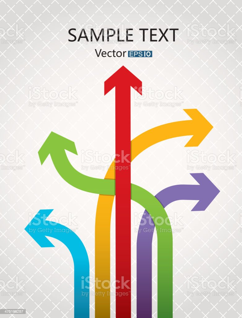Different direction arrows vector art illustration