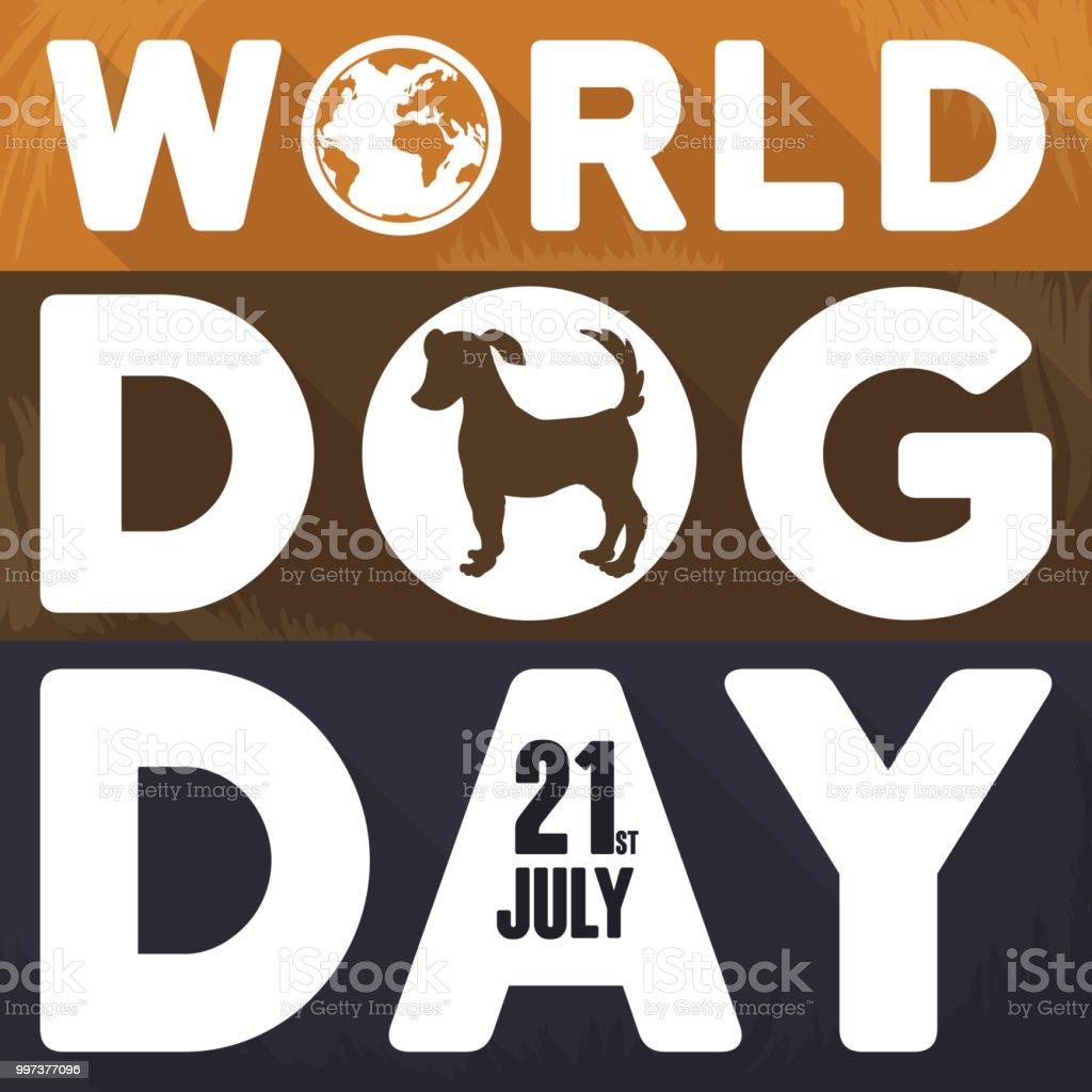 Verschiedene Hunde Fell Mit Gruß Botschaft Zum Welttag Der Hund ...