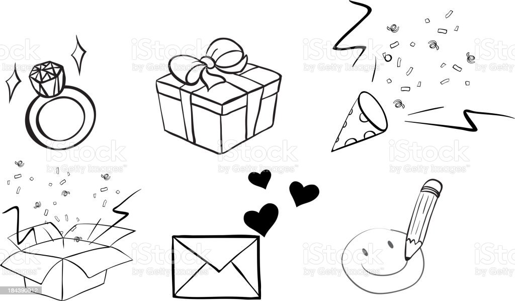 Different doodle designs royalty-free stock vector art