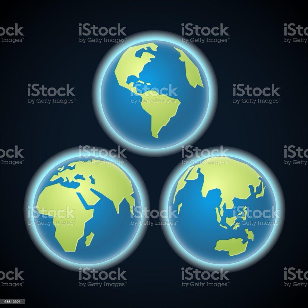 Ilustración de Diferentes Partes De La Tierra Plantilla De ...