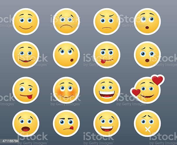 Verschiedene Emotionen Smileys Stock Vektor Art und mehr