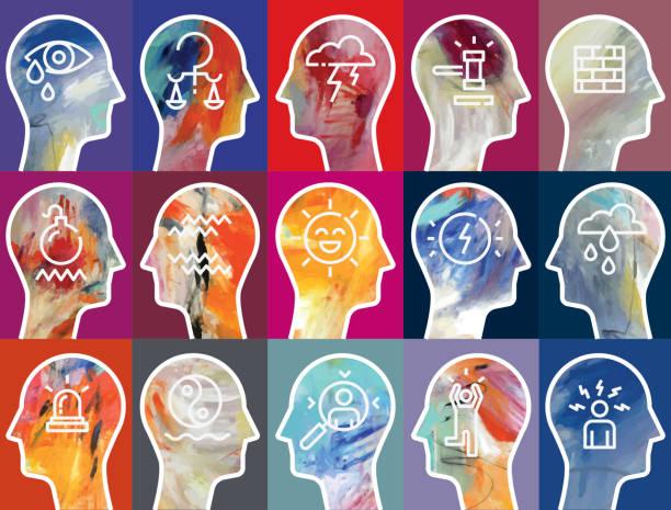 さまざまな感情 - emotions点のイラスト素材/クリップアート素材/マンガ素材/アイコン素材