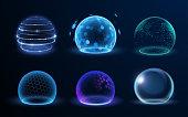 istock Different energy protection spheres set 1270243018