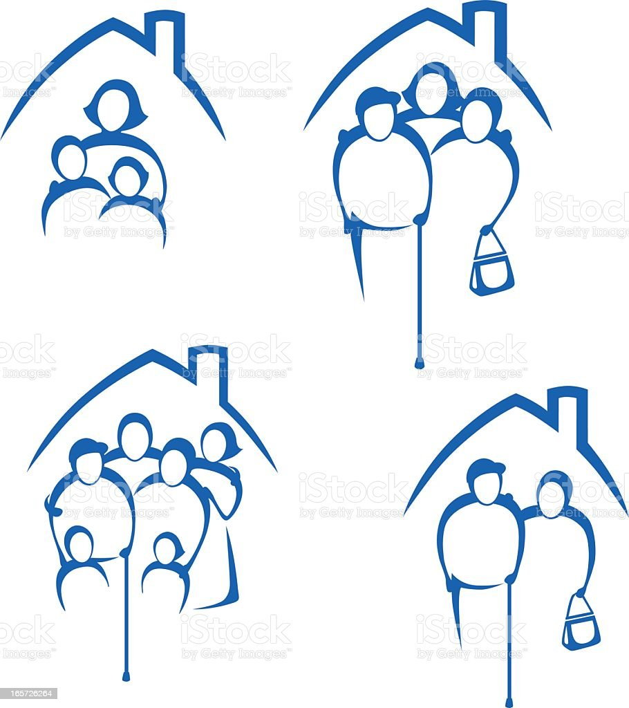 Different Families in their homes royalty-free different families in their homes stock vector art & more images of abstract