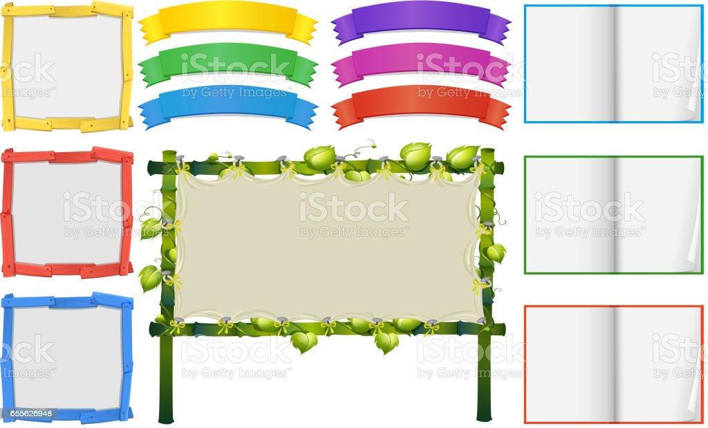 Verschiedene Rahmen Und Banner Vorlagen Stock Vektor Art Und Mehr