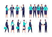 istock Different gestured businessman in suits. 1280842882