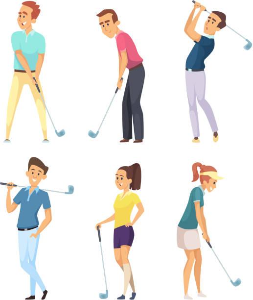 Woman Golfer Clip Art - Royalty Free - GoGraph