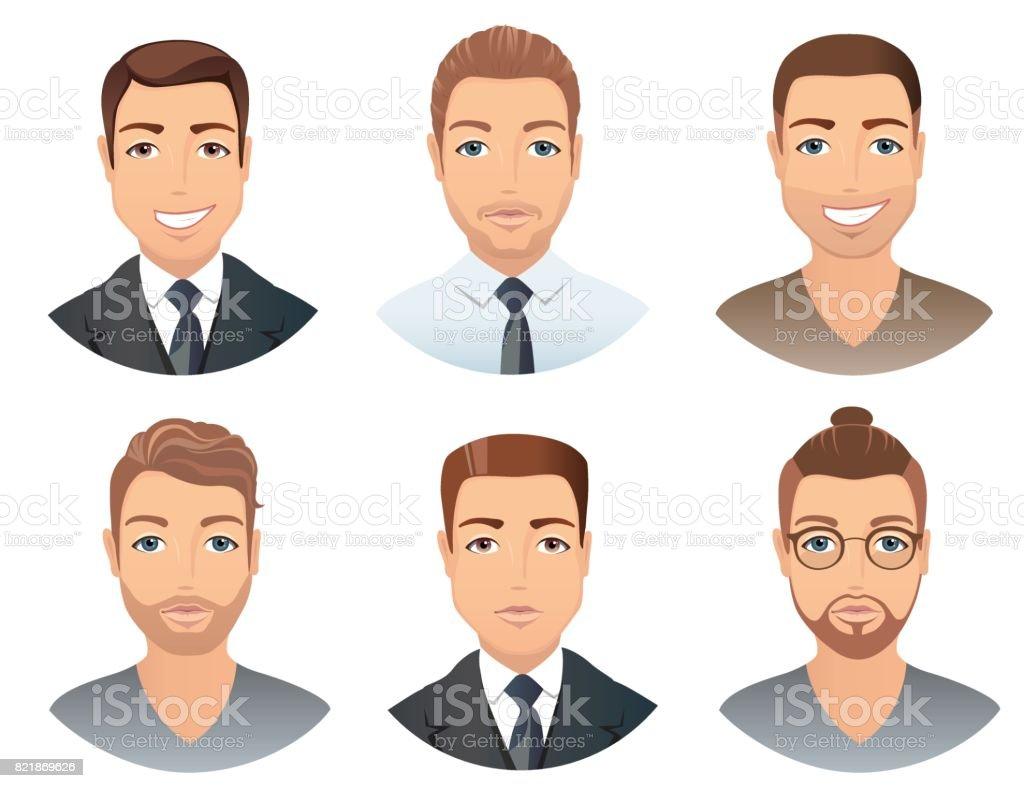 Verschiedene Frisuren Fur Manner Stock Vektor Art Und Mehr Bilder