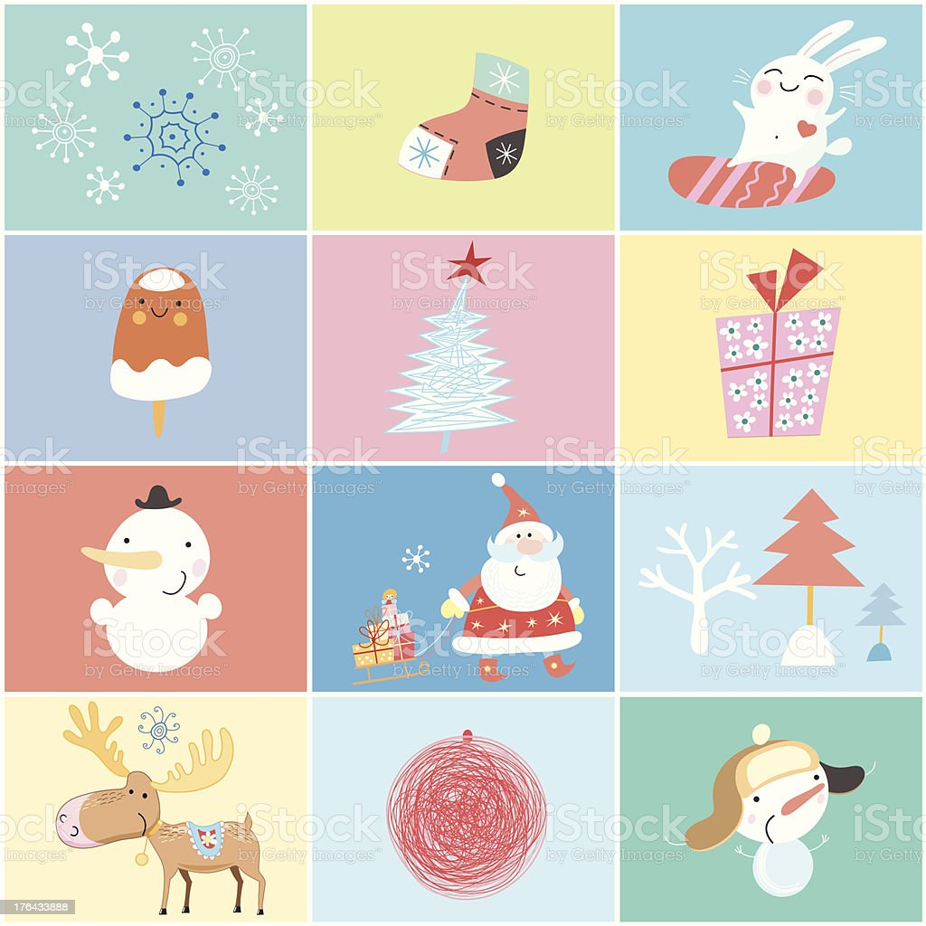 different holiday for the new year royalty-free stock vector art