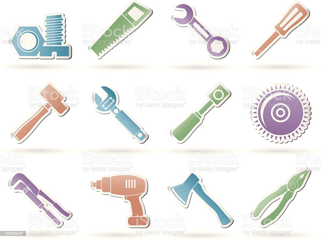 different kind of tools icons royalty-free stock vector art