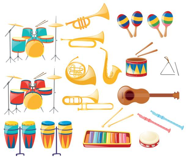 kinds of musical instruments There are many different ways to play musical instruments some are played with a bow, some with sticks, and some with our hands all kinds of musical instruments is a colorful introduction to a wide variety of instruments.