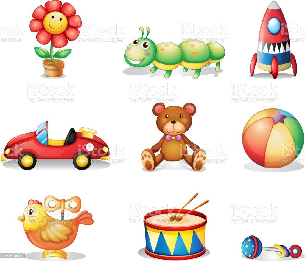 Diferentes Más Y Juguetes Para Tipos Ilustración Los De Niños LcRq4jS35A