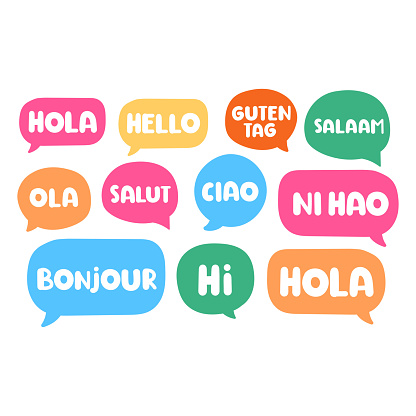 Different languages. Translation concept.