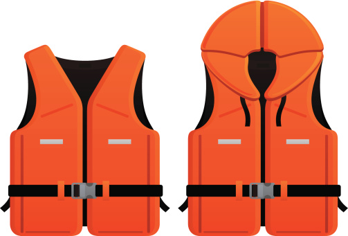 2 different life jacket vector graphics