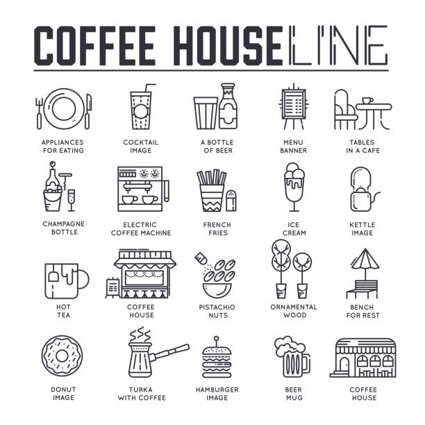 Best Coffee Shop Illustrations, Royalty-Free Vector