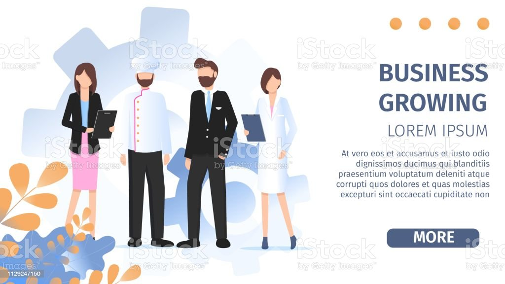 Different Occupation People Job Fair Flat Banner. Career Professional...