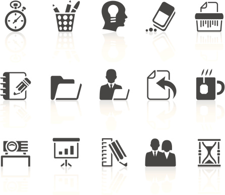 Different office and business icons