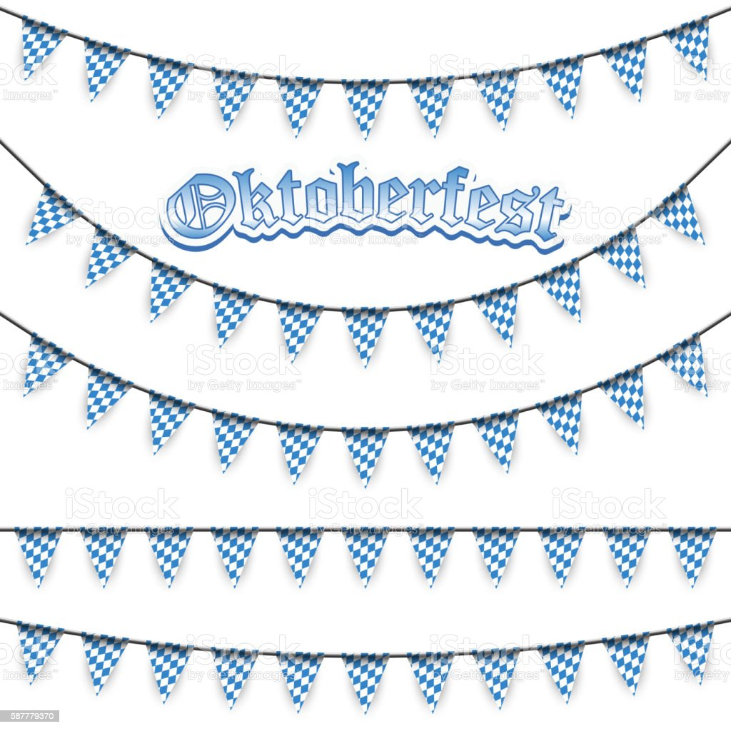 different Oktoberfest garlands – Vektorgrafik