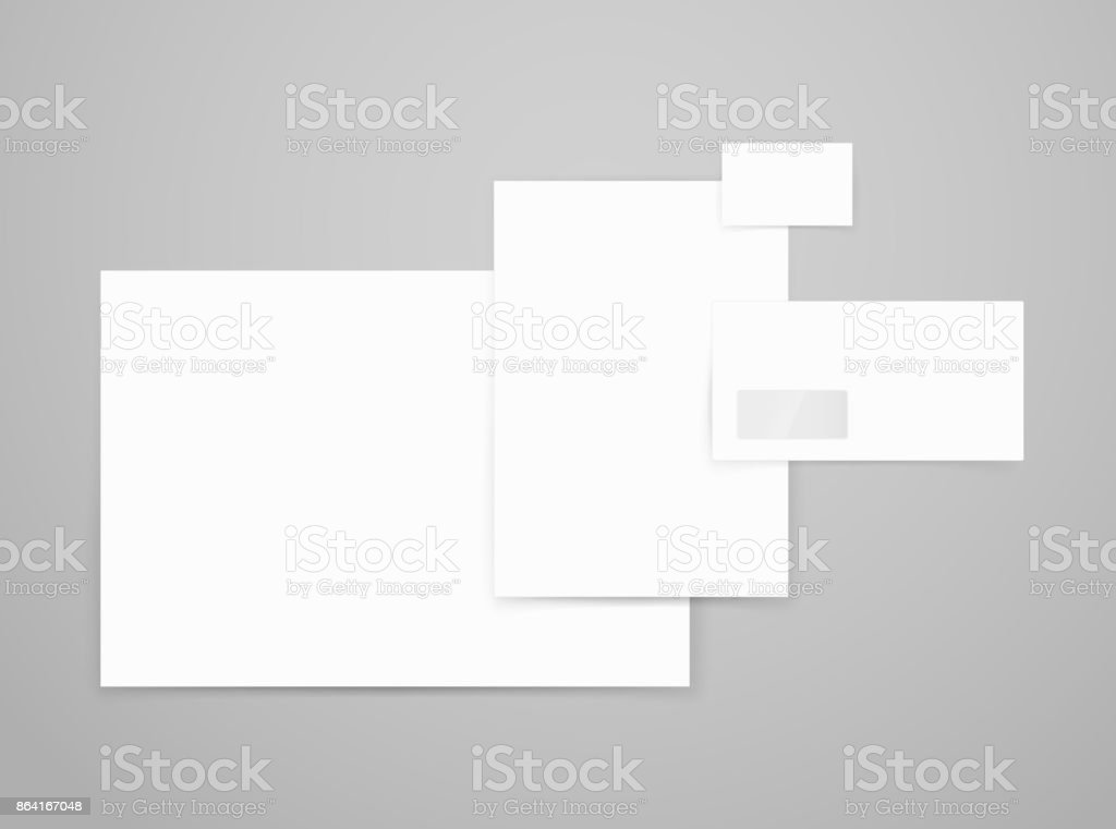 Different paper formats for branding. Vector mockup for design presentation royalty-free different paper formats for branding vector mockup for design presentation stock vector art & more images of blank