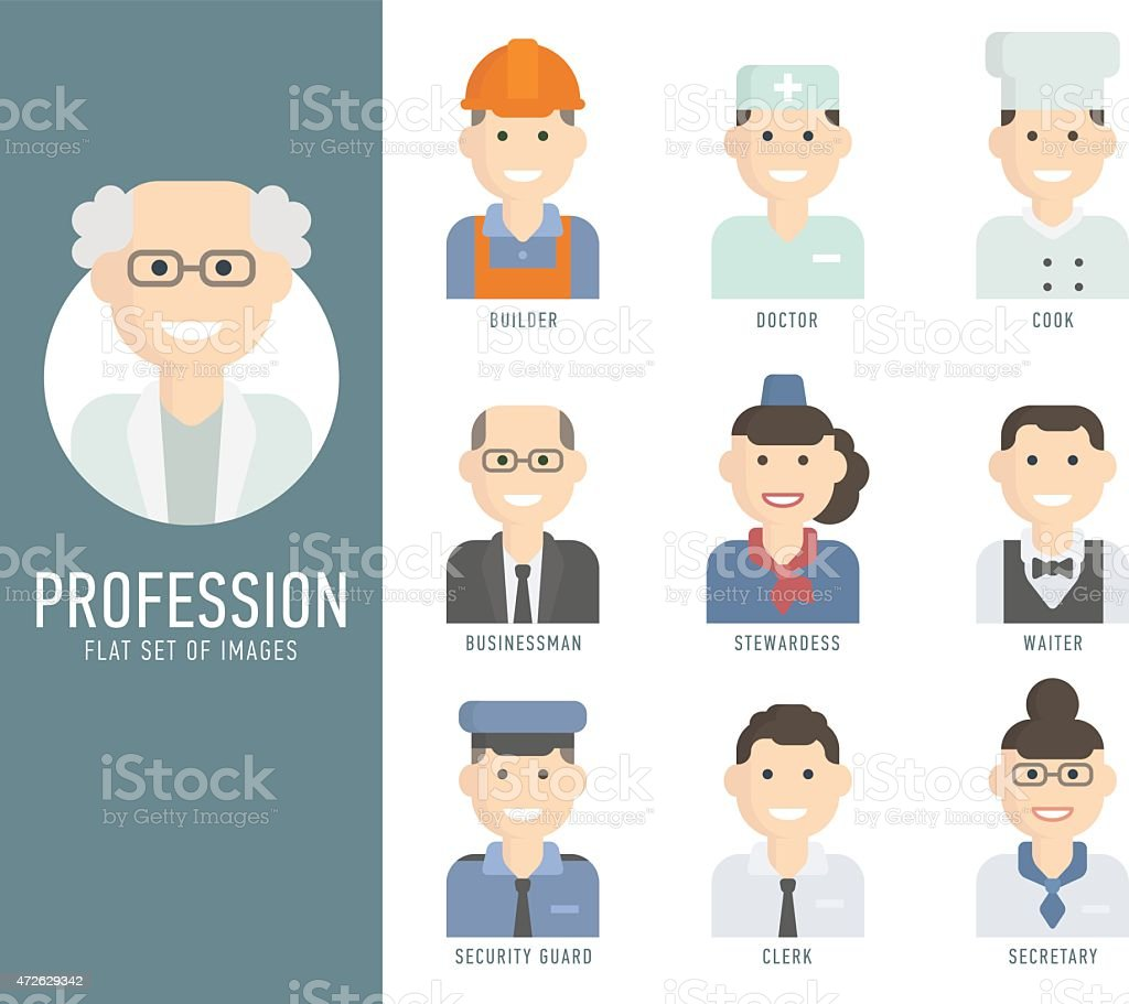 Different people professions characters set. Modern flat design...