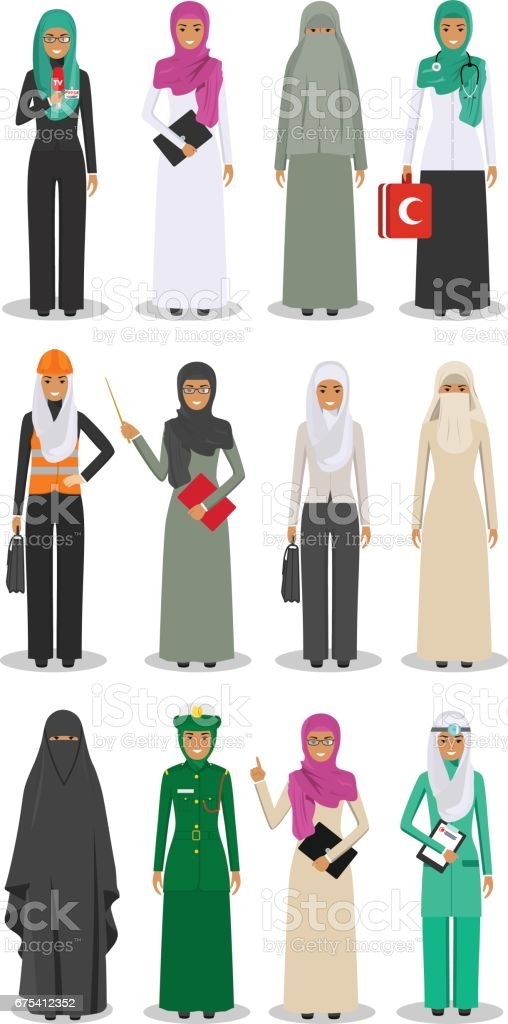 People occupation characters set in flat style isolated on white...
