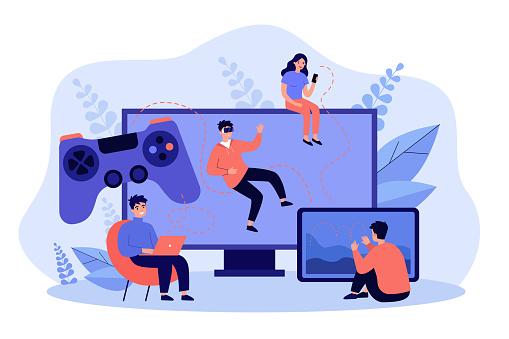 Different platforms for online games