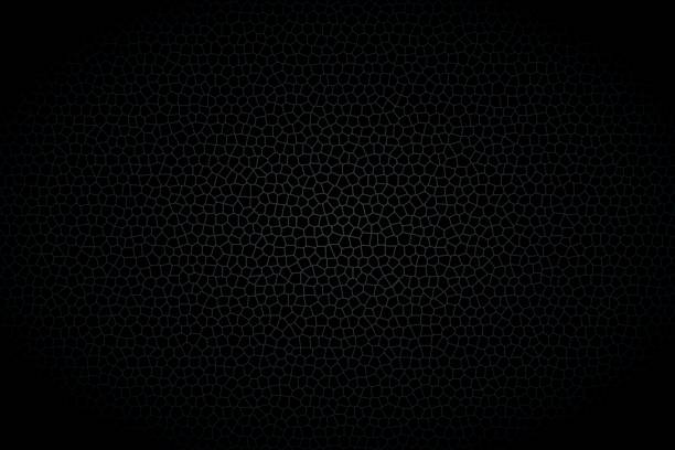 verschiedenen polygone hintergrund, abstrakt schwarzen hintergrund, vektor-illustration - plüschmuster stock-grafiken, -clipart, -cartoons und -symbole