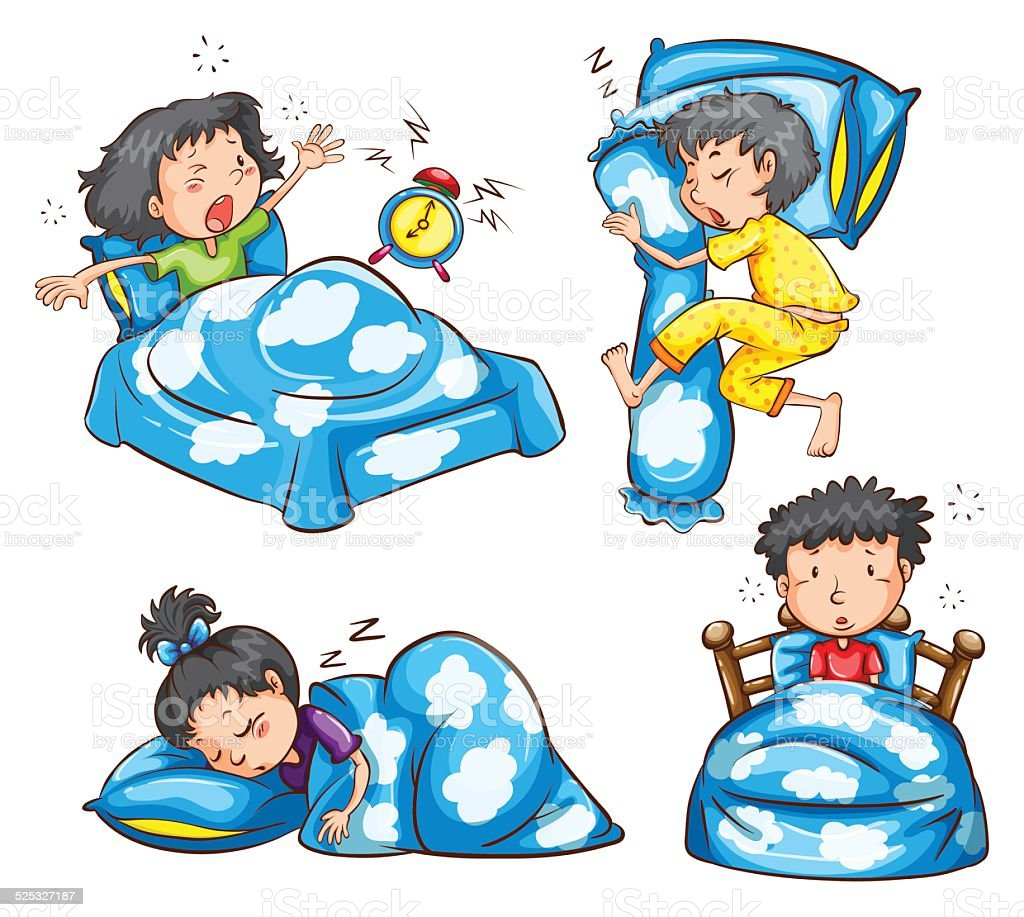 Different Position And Reaction Of Kids Stock Vector Art & More ...