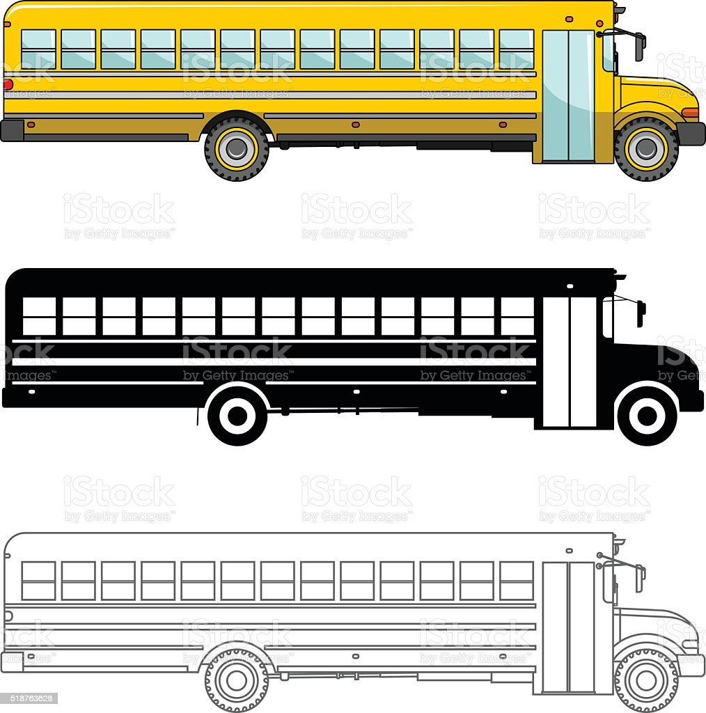 Royalty Free School Bus Stop Sign Clip Art, Vector Images ...